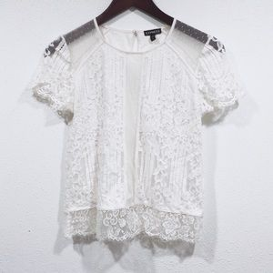 Express white lace blouse